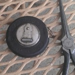 A small Lufkin steel tape and Crescent 777-7 needle nose pliers.